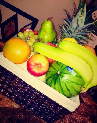 Fruit basket for the 12 months of the year.